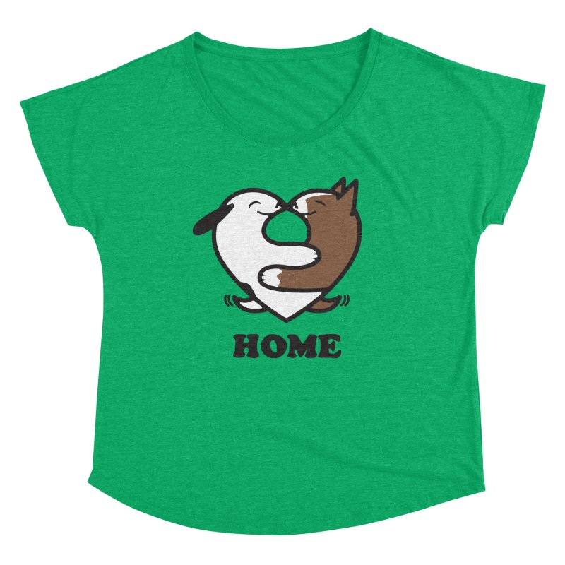 Home by Mark Kubat Women's Scoop Neck by Maryland SPCA's Artist Shop