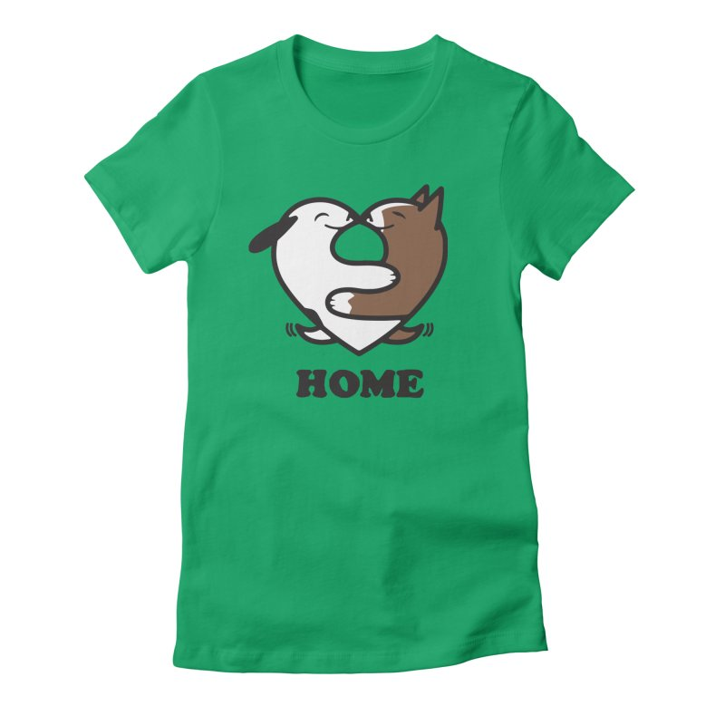 Home by Mark Kubat Women's Fitted T-Shirt by Maryland SPCA's Artist Shop