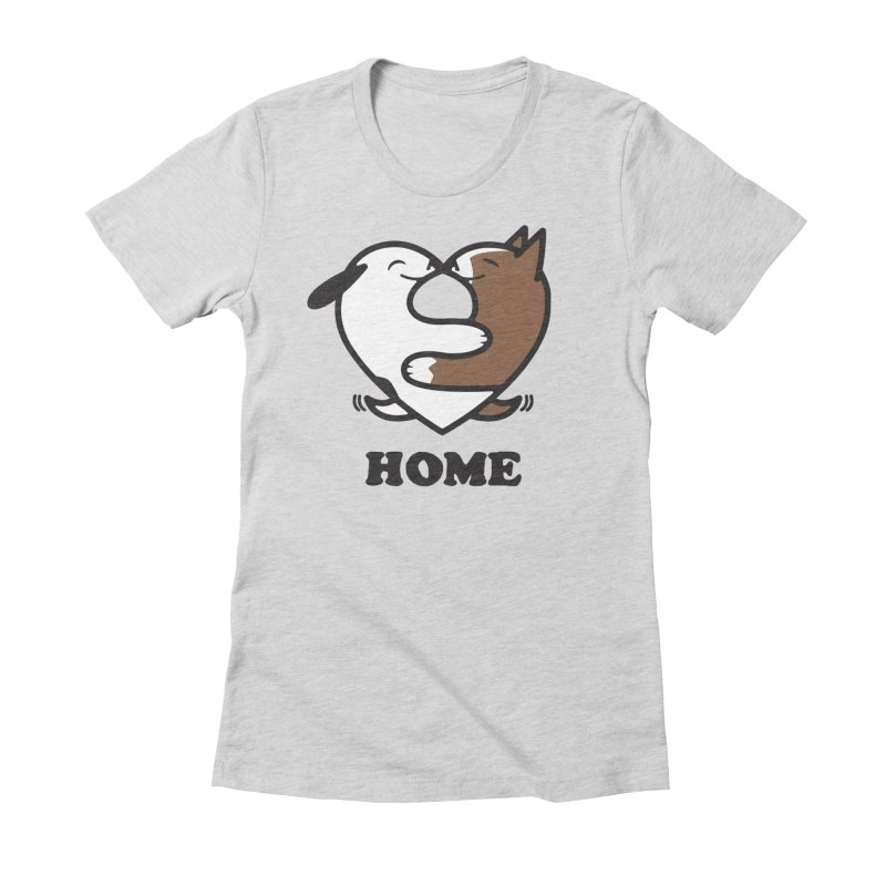 Home by Mark Kubat Women's Fitted T-Shirt by marylandspca's Artist Shop