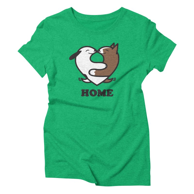 Home by Mark Kubat Women's Triblend T-Shirt by Maryland SPCA's Artist Shop