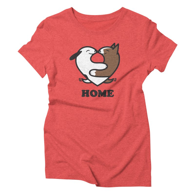 Home by Mark Kubat Women's Triblend T-Shirt by Maryland SPCA's Artist Shop