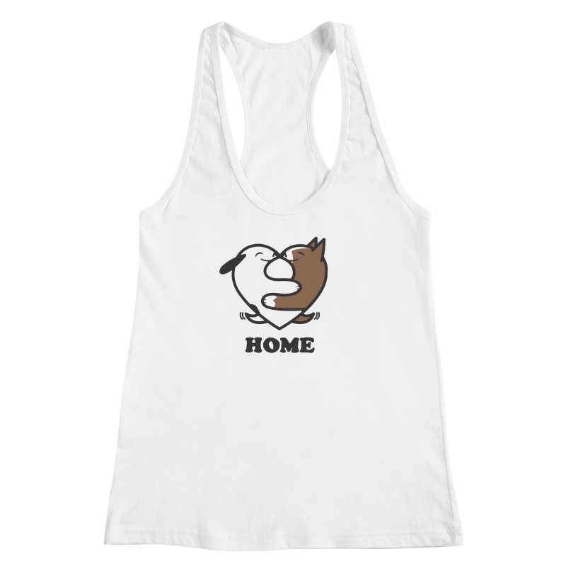 Home by Mark Kubat Women's Racerback Tank by Maryland SPCA's Artist Shop