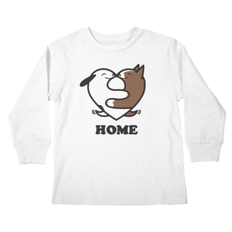 Home by Mark Kubat Kids Longsleeve T-Shirt by Maryland SPCA's Artist Shop