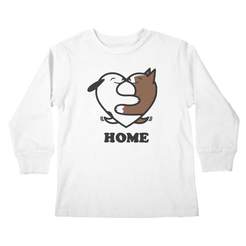 Home by Mark Kubat Kids Longsleeve T-Shirt by Maryland SPCA's Artist Shop