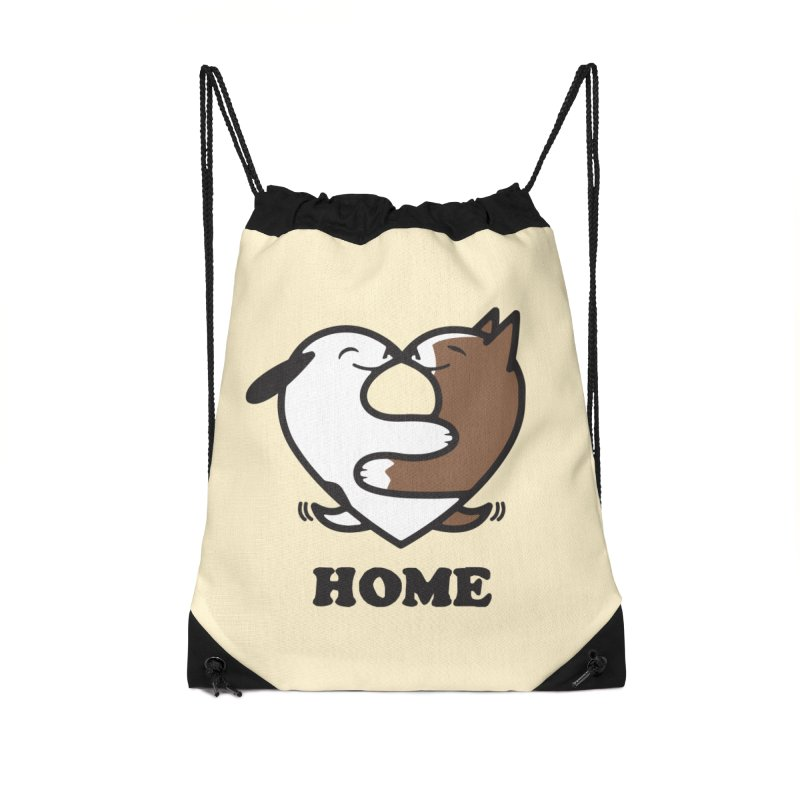 Home by Mark Kubat Accessories Drawstring Bag Bag by Maryland SPCA's Artist Shop