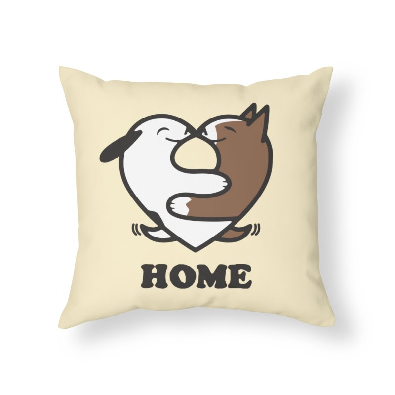 Home by Mark Kubat Home Throw Pillow by Maryland SPCA's Artist Shop