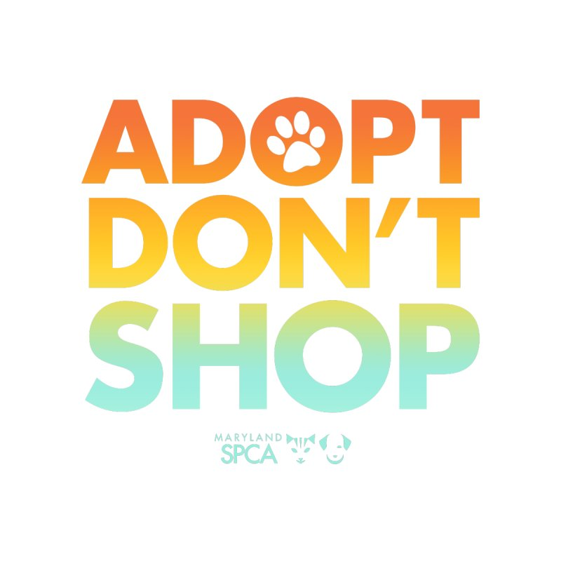Adopt Don't Shop Accessories Zip Pouch by Maryland SPCA's Artist Shop