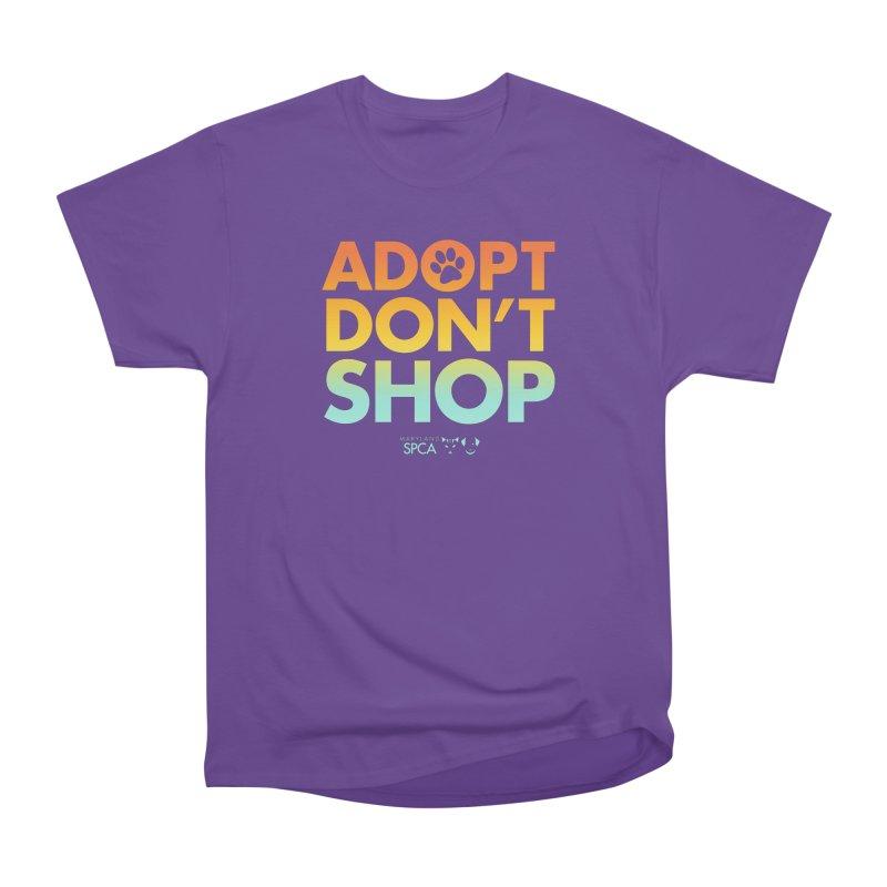 Adopt Don't Shop Women's Heavyweight Unisex T-Shirt by Maryland SPCA's Artist Shop