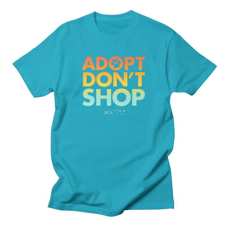 Adopt Don't Shop Men's Regular T-Shirt by Maryland SPCA's Artist Shop