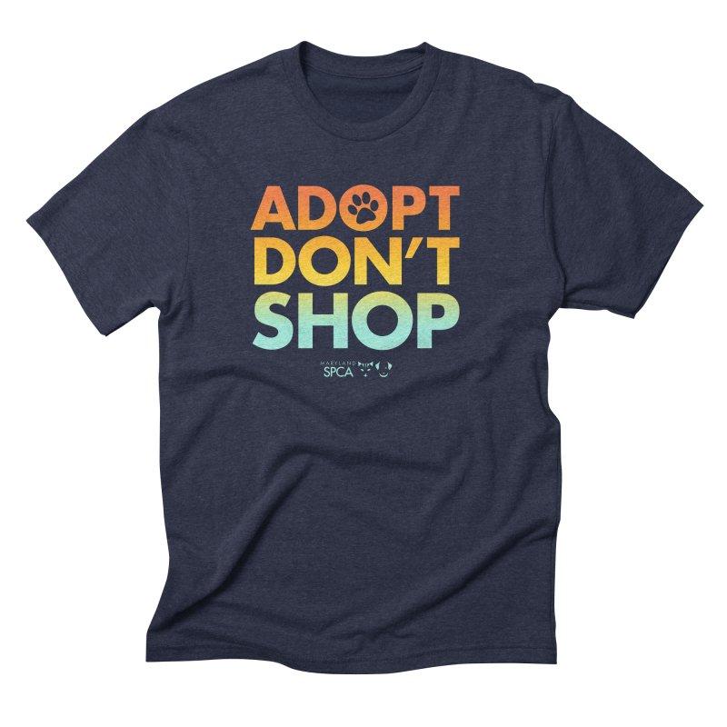 Adopt Don't Shop Men's Triblend T-Shirt by Maryland SPCA's Artist Shop