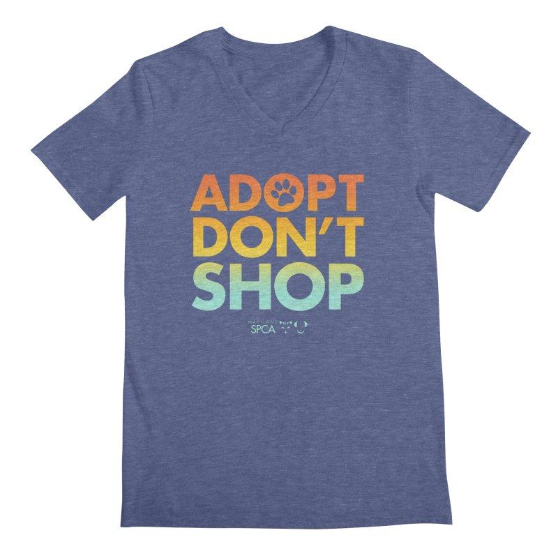 Adopt Don't Shop Men's Regular V-Neck by Maryland SPCA's Artist Shop