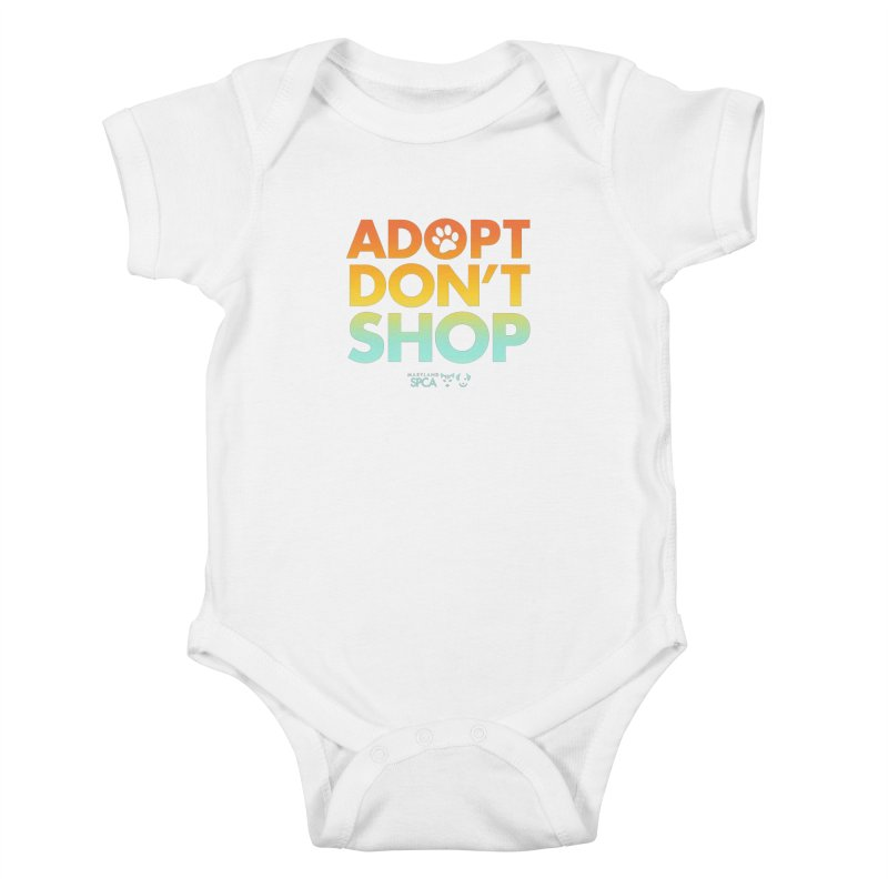 Adopt Don't Shop Kids Baby Bodysuit by Maryland SPCA's Artist Shop