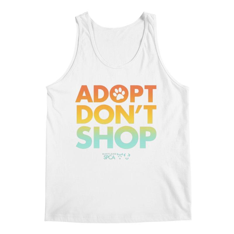 Adopt Don't Shop Men's Regular Tank by Maryland SPCA's Artist Shop