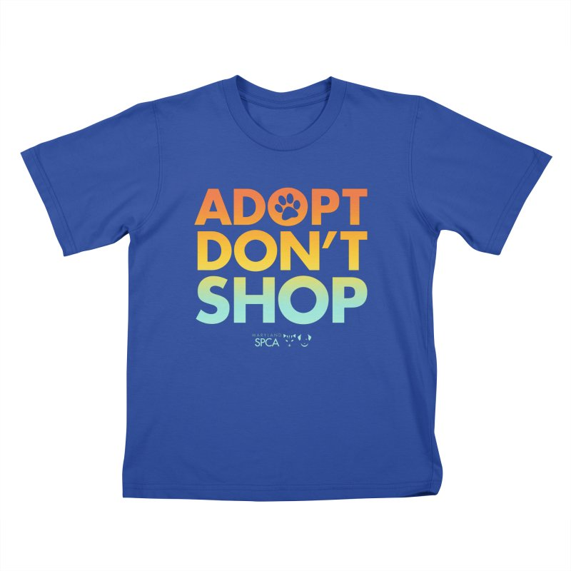 Adopt Don't Shop Kids T-Shirt by Maryland SPCA's Artist Shop