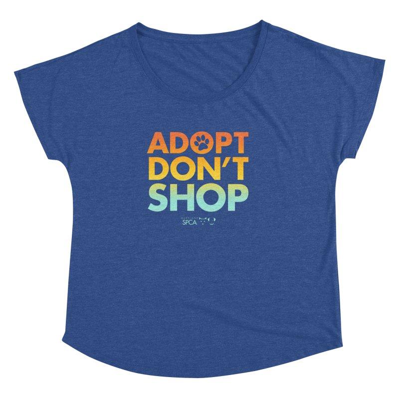 Adopt Don't Shop Women's Dolman Scoop Neck by Maryland SPCA's Artist Shop