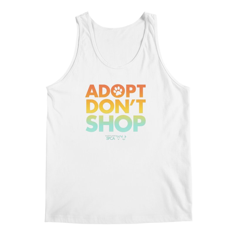 Adopt Don't Shop Men's Tank by Maryland SPCA's Artist Shop