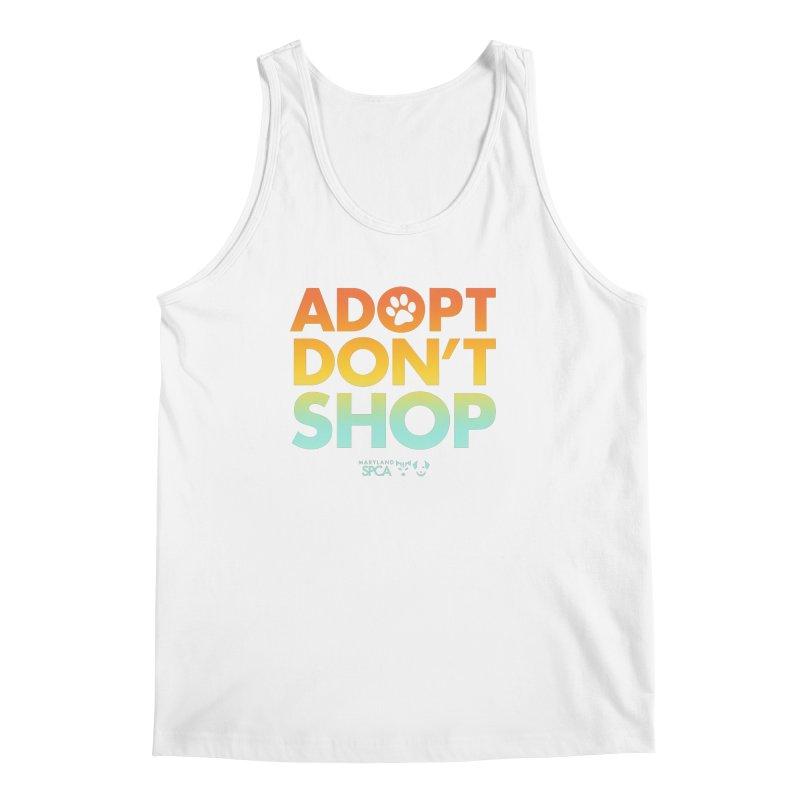 Adopt Don't Shop Men's Tank by Maryland SPCA's Artist Shop