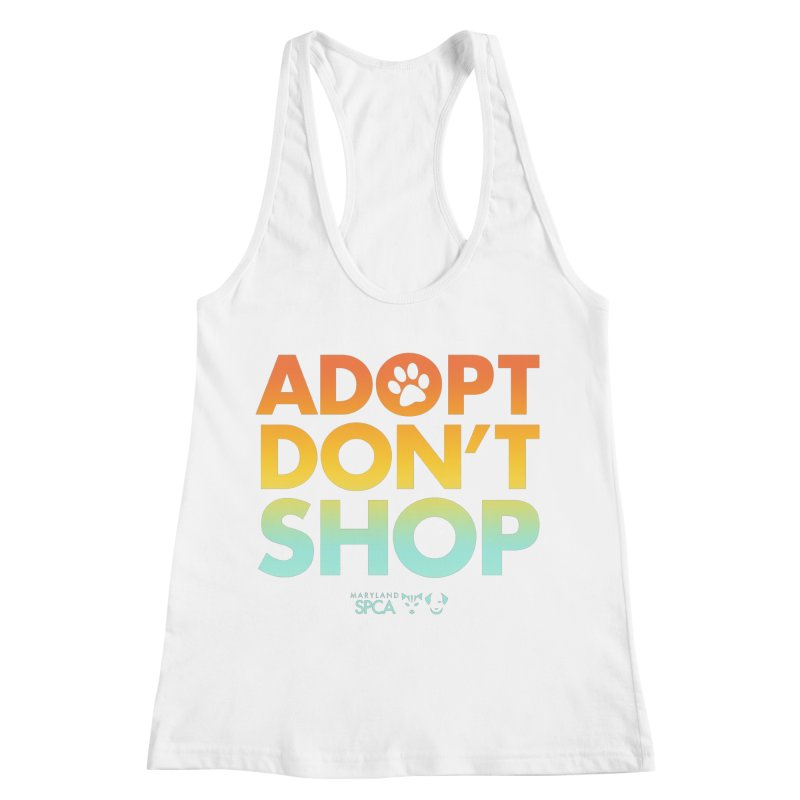 Adopt Don't Shop Women's Tank by Maryland SPCA's Artist Shop