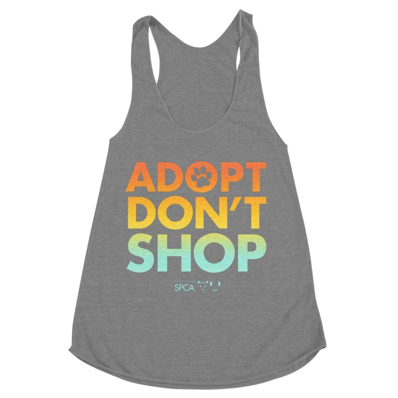 Adopt Don't Shop Women's Tank by Maryland SPCA's Artist Shop