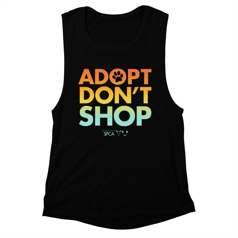 Adopt Don't Shop Women's Muscle Tank by Maryland SPCA's Artist Shop