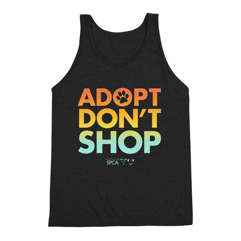 Adopt Don't Shop Men's Triblend Tank by Maryland SPCA's Artist Shop