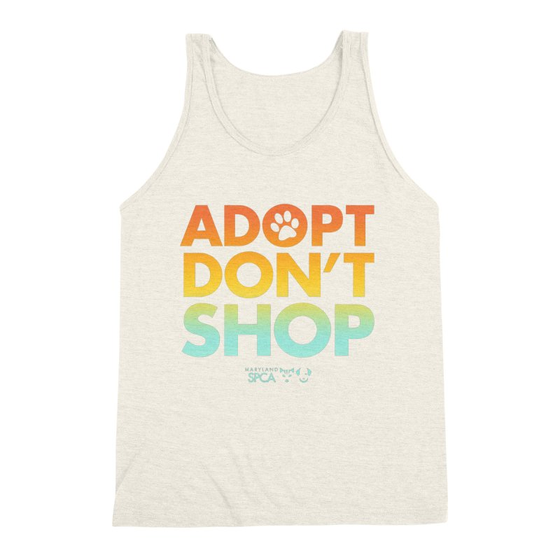 Adopt Don't Shop Men's Triblend Tank by Maryland SPCA's Artist Shop