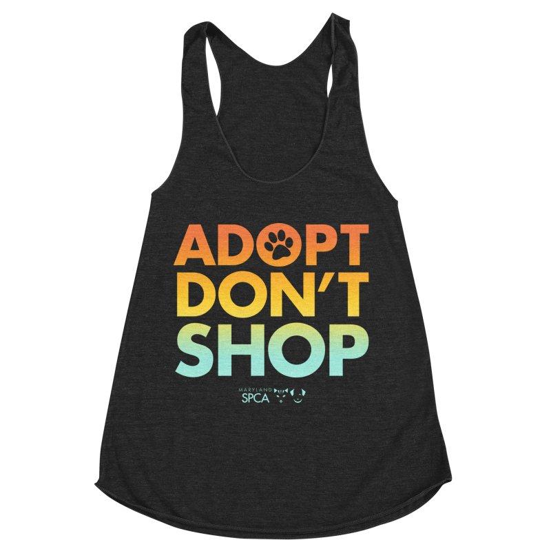 Adopt Don't Shop Women's Racerback Triblend Tank by Maryland SPCA's Artist Shop