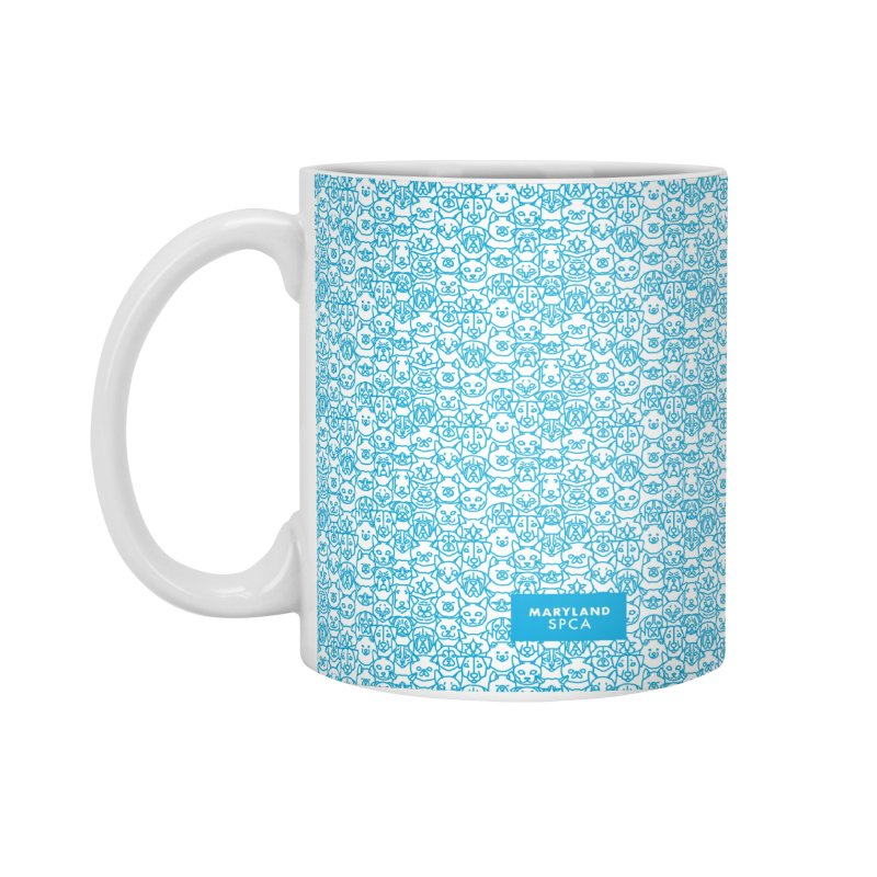 Maryland SPCA Cats & Dogs Pattern - BLUE Accessories Standard Mug by Maryland SPCA's Artist Shop