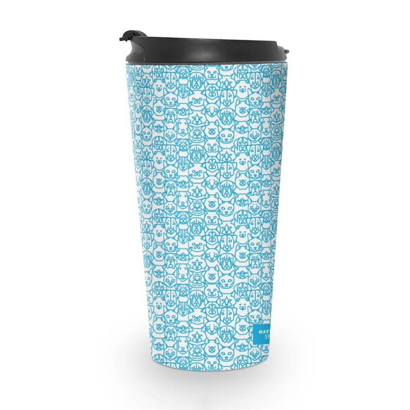 Maryland SPCA Cats & Dogs Pattern - BLUE Accessories Travel Mug by Maryland SPCA's Artist Shop