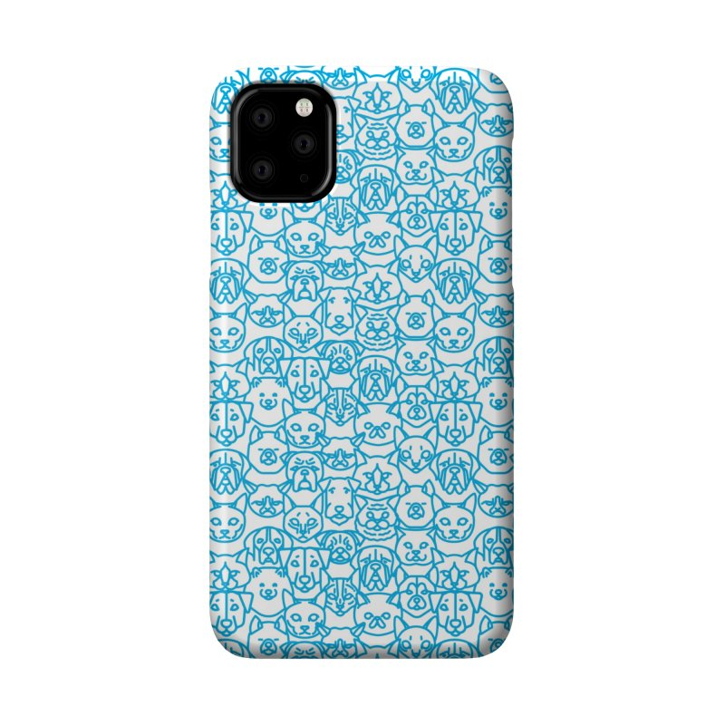 Maryland SPCA Cats & Dogs Pattern - BLUE Accessories Phone Case by Maryland SPCA's Artist Shop
