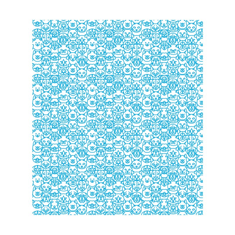 Maryland SPCA Cats & Dogs Pattern - BLUE by Maryland SPCA's Artist Shop