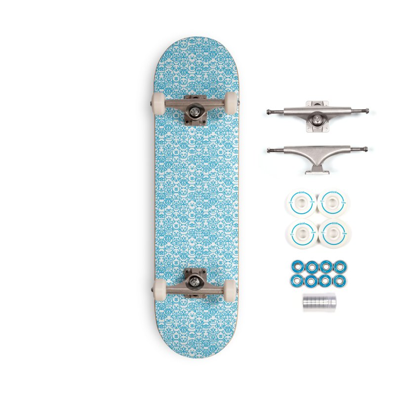 Maryland SPCA Cats & Dogs Pattern - BLUE Accessories Complete - Basic Skateboard by Maryland SPCA's Artist Shop