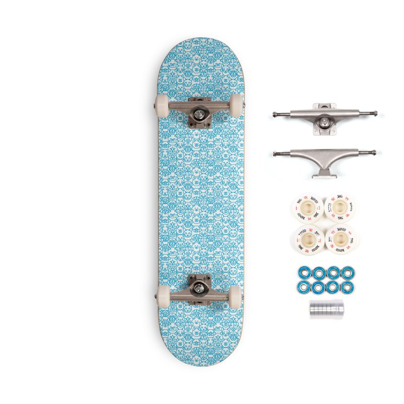 Maryland SPCA Cats & Dogs Pattern - BLUE Accessories Complete - Premium Skateboard by Maryland SPCA's Artist Shop