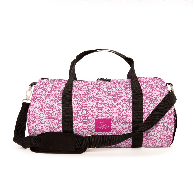 Maryland SPCA Cats & Dogs Pattern - PINK Accessories Bag by Maryland SPCA's Artist Shop