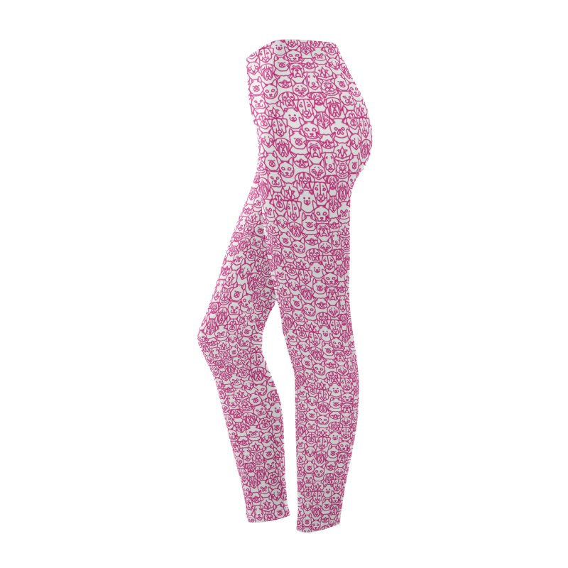 Maryland SPCA Cats & Dogs Pattern - PINK Women's Bottoms by Maryland SPCA's Artist Shop