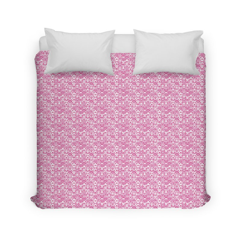 Maryland SPCA Cats & Dogs Pattern - PINK Home Duvet by Maryland SPCA's Artist Shop