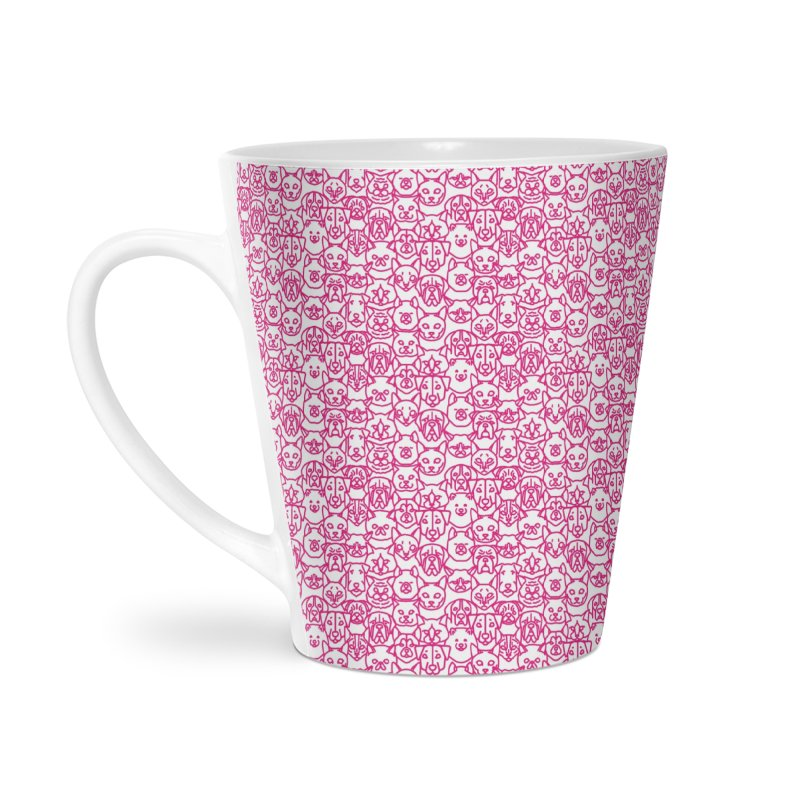 Maryland SPCA Cats & Dogs Pattern - PINK Accessories Latte Mug by Maryland SPCA's Artist Shop