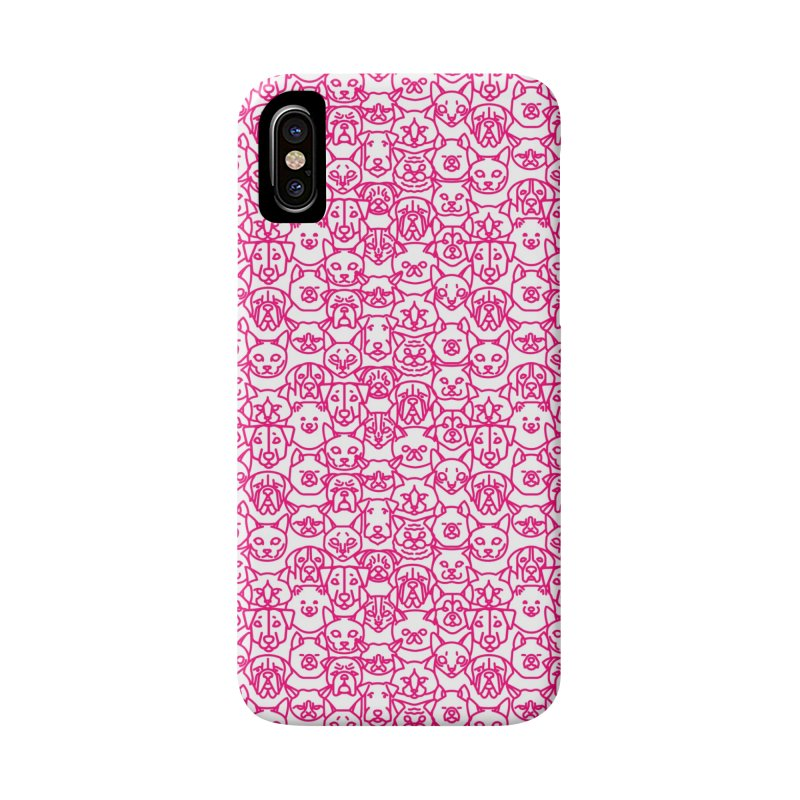 Maryland SPCA Cats & Dogs Pattern - PINK Accessories Phone Case by Maryland SPCA's Artist Shop
