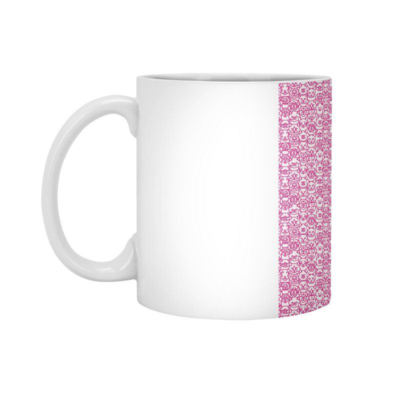 Maryland SPCA Cats & Dogs Pattern - PINK Accessories Mug by Maryland SPCA's Artist Shop