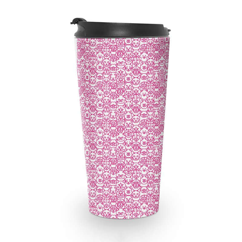 Maryland SPCA Cats & Dogs Pattern - PINK Accessories Travel Mug by Maryland SPCA's Artist Shop