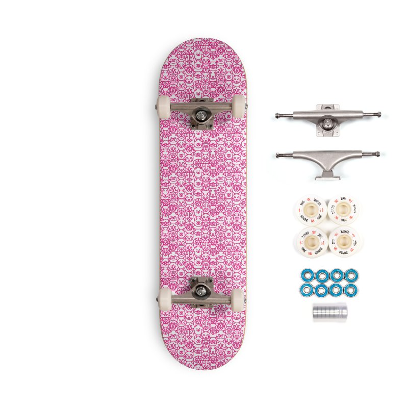 Maryland SPCA Cats & Dogs Pattern - PINK Accessories Complete - Premium Skateboard by Maryland SPCA's Artist Shop