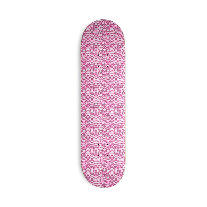 Maryland SPCA Cats & Dogs Pattern - PINK Accessories Deck Only Skateboard by Maryland SPCA's Artist Shop
