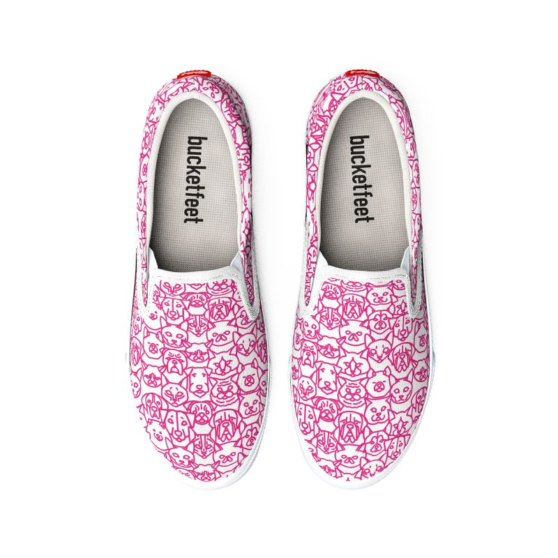 Maryland SPCA Cats & Dogs Pattern - PINK Men's Shoes by Maryland SPCA's Artist Shop
