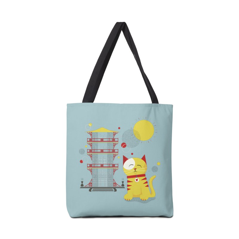 Pawgoda (Wall Art) By Richard Kercz - Light Blue/Green Accessories Tote Bag Bag by Maryland SPCA's Artist Shop