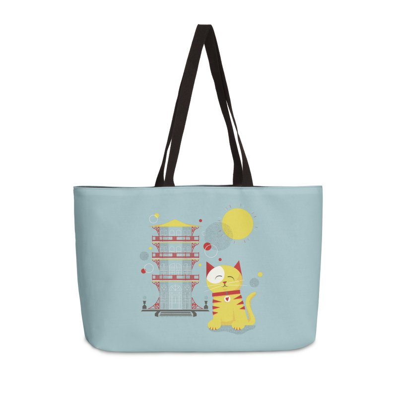 Pawgoda (Wall Art) By Richard Kercz - Light Blue/Green Accessories Weekender Bag Bag by Maryland SPCA's Artist Shop