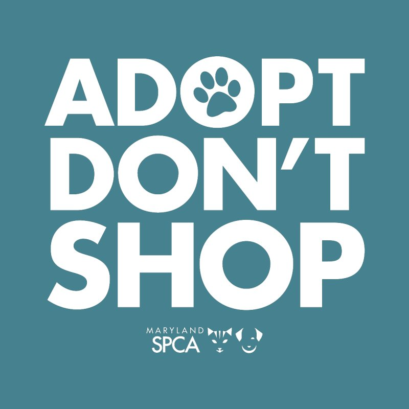 Adopt Don't Shop - WHITE- MD SPCA Design Men's Longsleeve T-Shirt by Maryland SPCA's Artist Shop