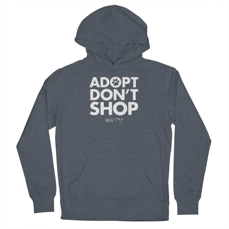 Adopt Don't Shop - WHITE- MD SPCA Design Men's French Terry Pullover Hoody by Maryland SPCA's Artist Shop
