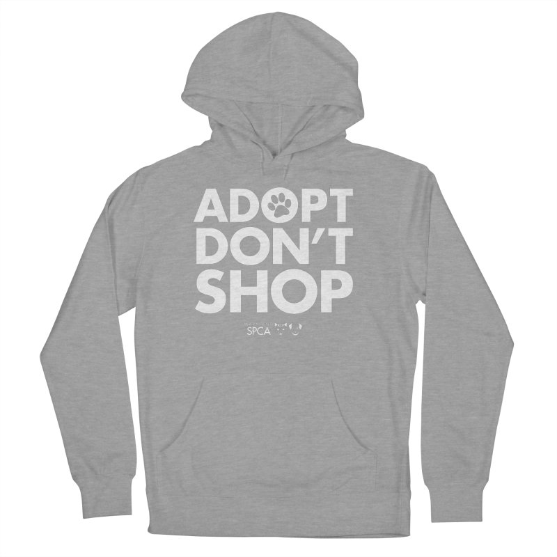 Adopt Don't Shop - WHITE- MD SPCA Design Men's French Terry Pullover Hoody by marylandspca's Artist Shop