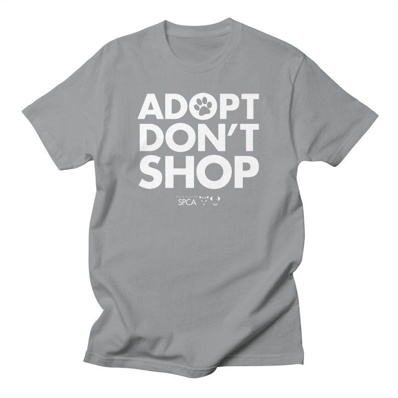 Adopt Don't Shop - WHITE- MD SPCA Design Men's Regular T-Shirt by Maryland SPCA's Artist Shop
