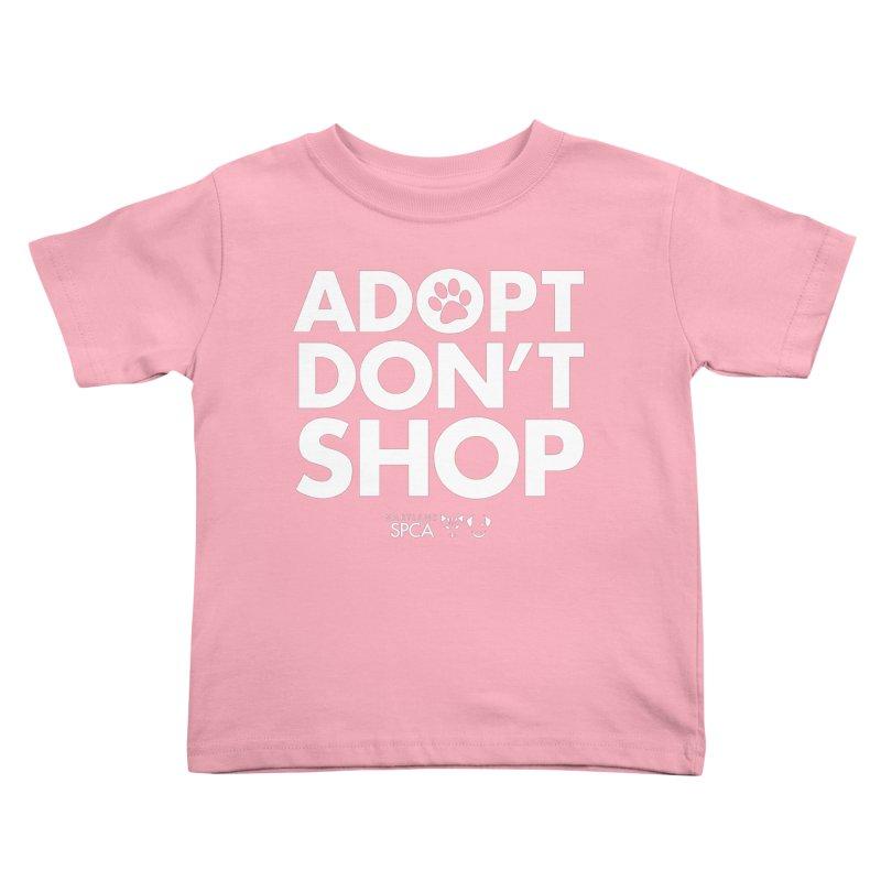 Adopt Don't Shop - WHITE- MD SPCA Design Kids Toddler T-Shirt by Maryland SPCA's Artist Shop